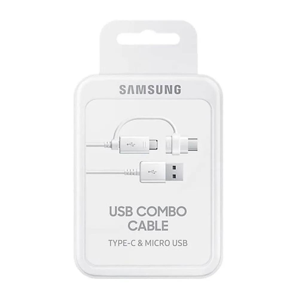 Kit Bateria Externa 10000 mAh Carga Rápida Samsung + Cabo 2 em 1 Combo Cable Samsung