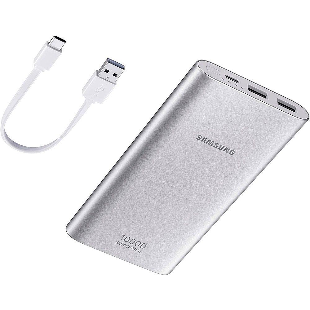 Samsung Galaxy Watch Bt 46mm Prata + Powerbank Samsung Carga Rápida 10.000mah Usb-C
