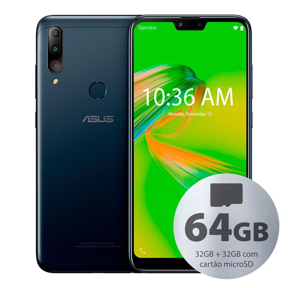 Smartphone Asus Zenfone Max Shot 3gb 32gb+32gb 3gb Ram Dual Tela 6,2 Preto