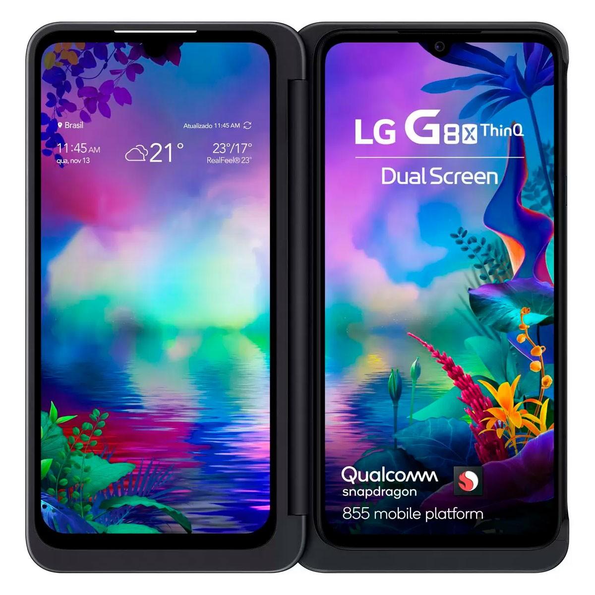 Smartphone LG G8X + Grátis Carregador Rápido Samsung Sem Fio Pad 2