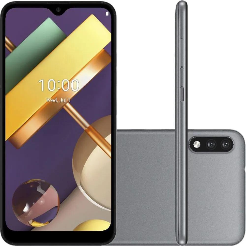 "Smartphone LG K22 32gb 2gb Ram 2 Câmeras Titanium Tela 6,2"""