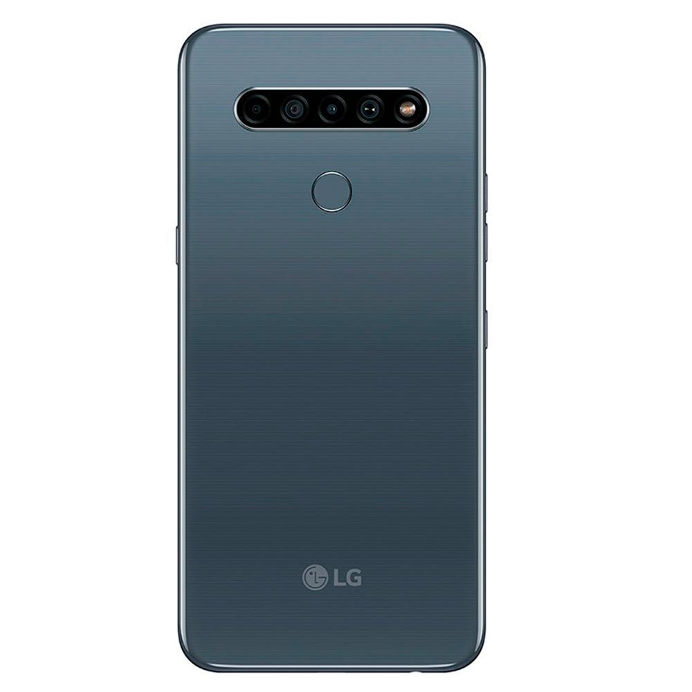 Smartphone LG K61 128gb 4gb Ram Tela 6.5 4 Câmeras Titanium