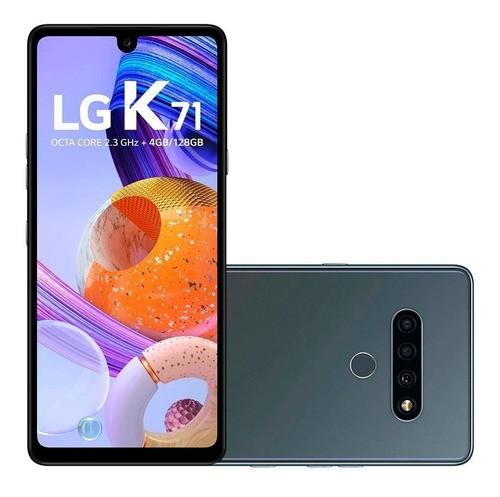 "SMARTPHONE LG K71 128GB 4GB RAM TELA 6.8"" 3 CÂMERAS TITANIUM"
