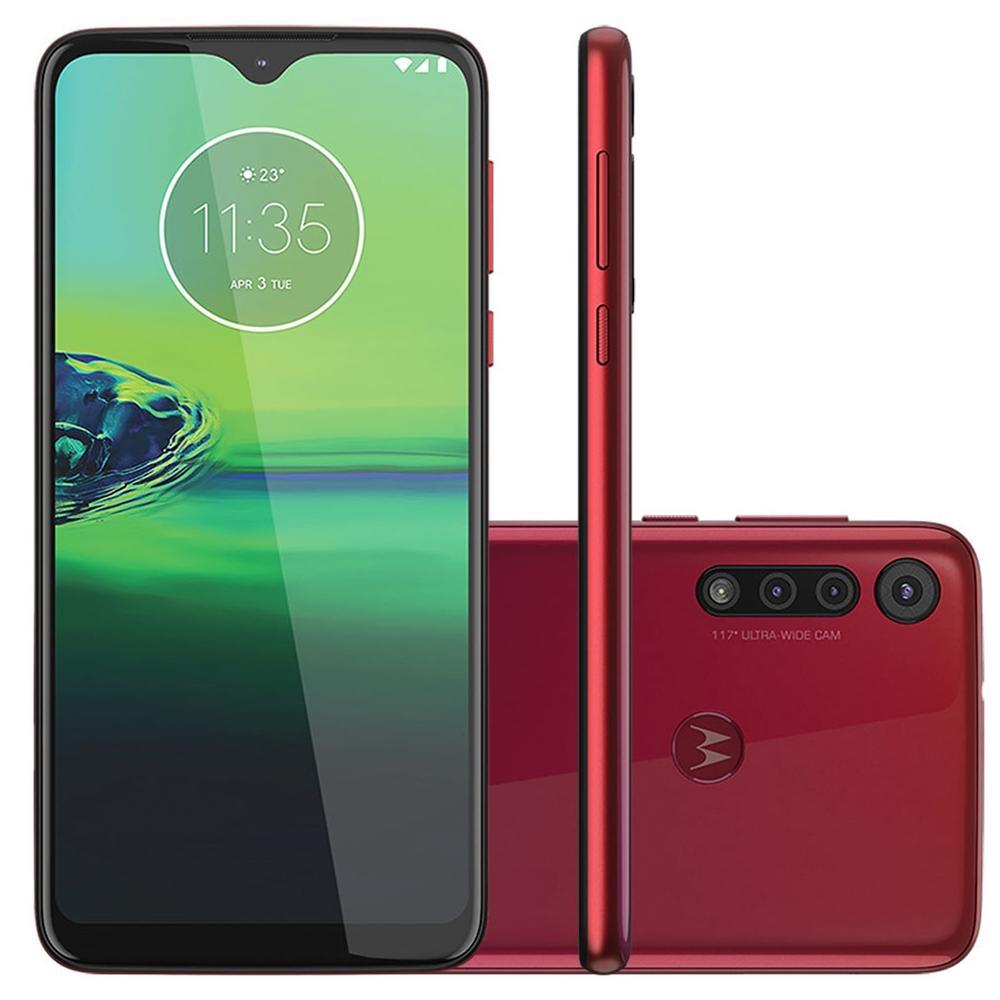 Smartphone Motorola Moto G8 Play Tela 6,2 32gb Câmera Tripla Vermelho Magenta