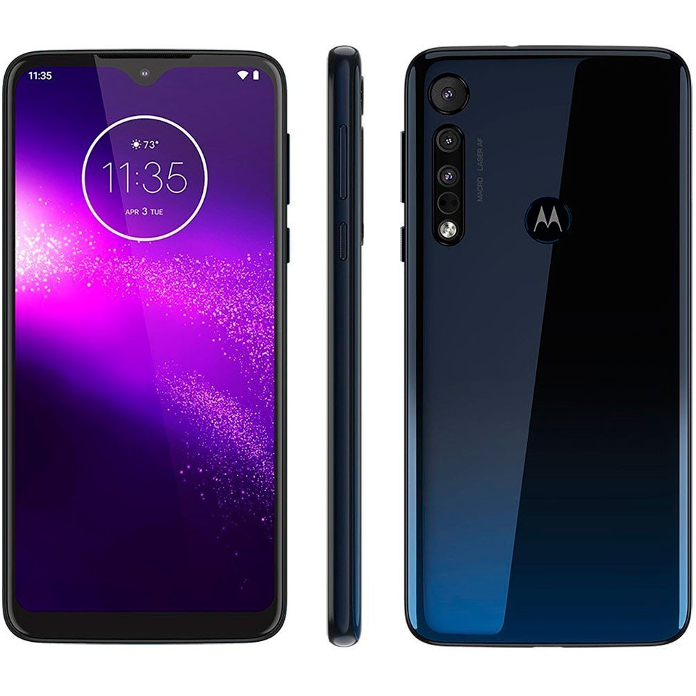 Smartphone Motorola One Macro + Carregador Rápido Samsung Sem Fio Pad 2 2019