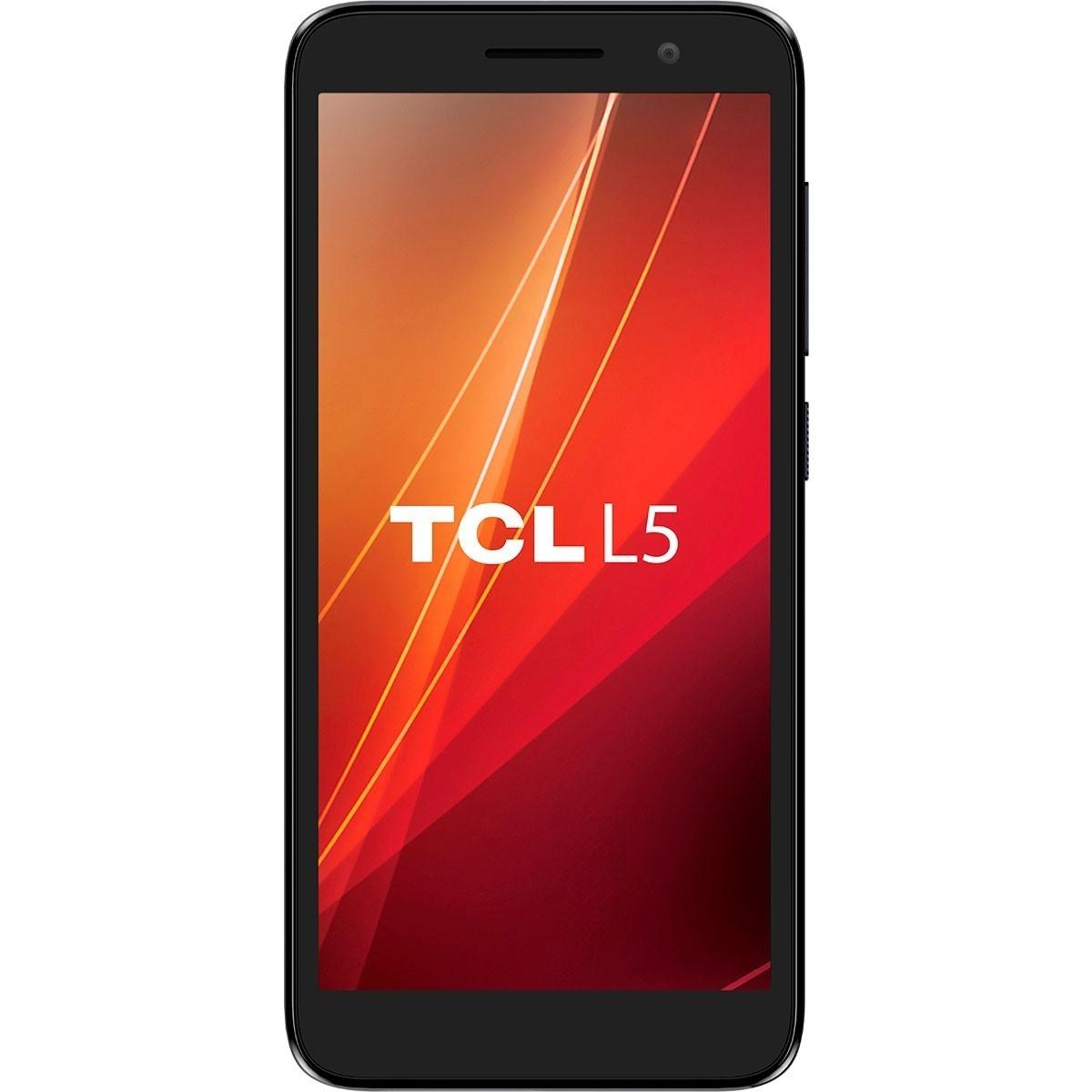Smartphone TCL L5 Preto Dual Tela 5'' 4G 16GB 1GB Ram Quad-Core 8MP+5MP + Capa Protetora