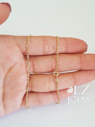 Corrente Colar Gargantilha Cartier Bailarina Ouro 18k Amarelo 45cm