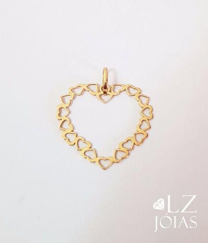 Pingente Corações Coração Em Ouro 18k Feminino