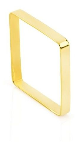 Anel Quadrado Ouro 18k Chapa Xuxa Feminino + Garantia Fofo