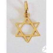 Pingente Ouro 18k Estrela De Davi Israel Vazado Hexagrama Jerusalém