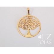 Pingente Medalha Árvore Da Vida Felicidade Feminino Ouro 18k Garantia