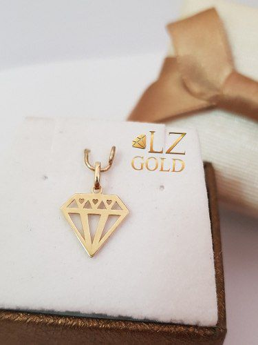 Pingente Diamante Ouro 18k Ostentação Coração Mc Liso Luxo