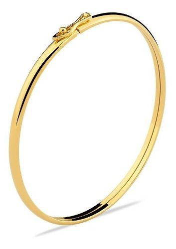 Bracelete Fio Redondo Fino Classico Chic Feminino Ouro 18k 750 + Garantia