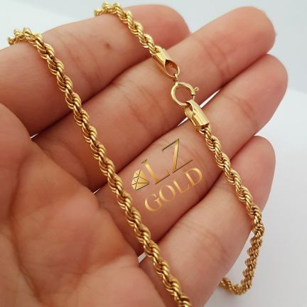 Corrente Colar Cordão Feminino Ouro 18k Garantia