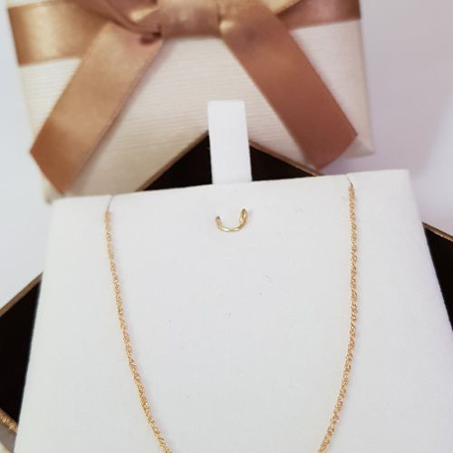 Corrente Colar Gargantilha Singapura Feminina Ouro 18k