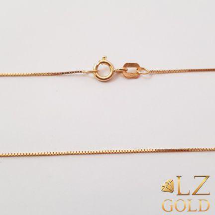 Corrente Colar Gargantilha Veneziana Feminina Ouro 18k 45cm