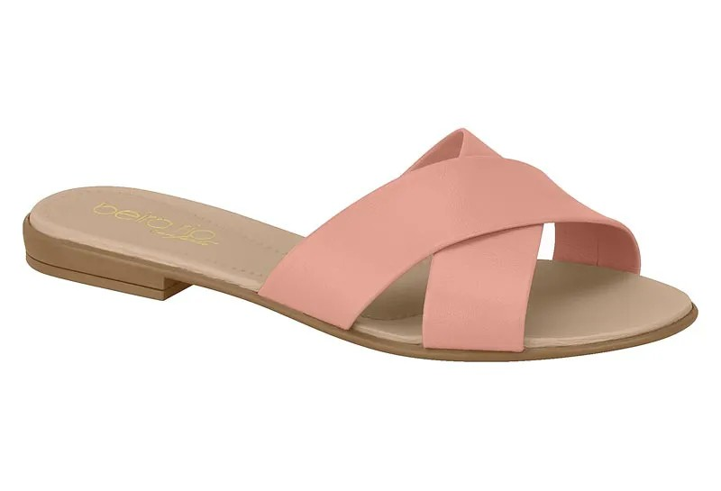 Chinelo feminina rasteira Beira Rio 8350.103 - Light Blush
