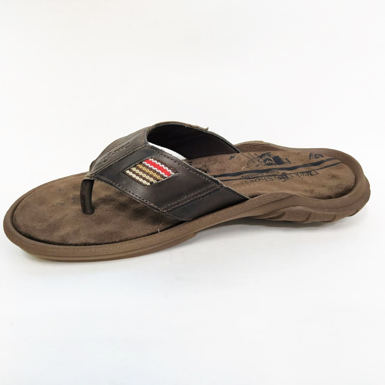 Chinelo masculino Deck Be Shoes 100 - Chocolate