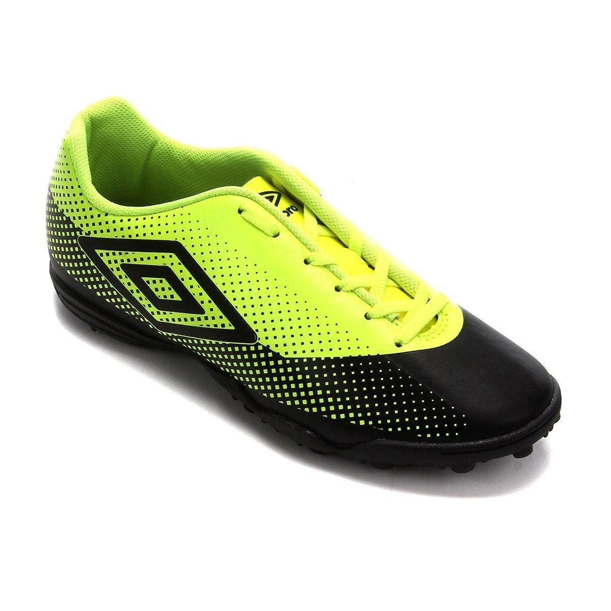 Chuteira Adulto Umbro Icon Society - Preto / Limao