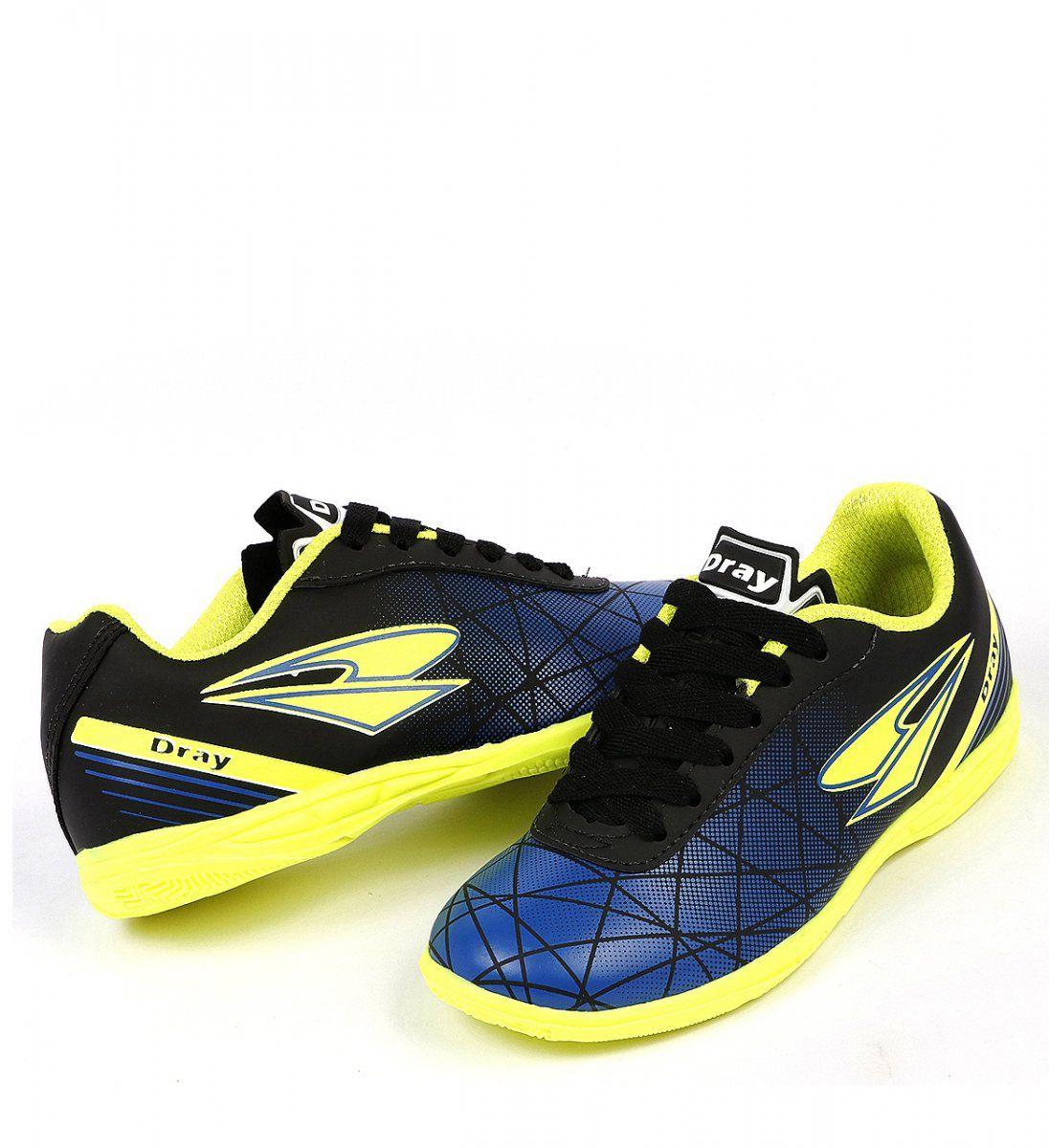 Chuteira Futsal Dray 306 - Preto/Azul