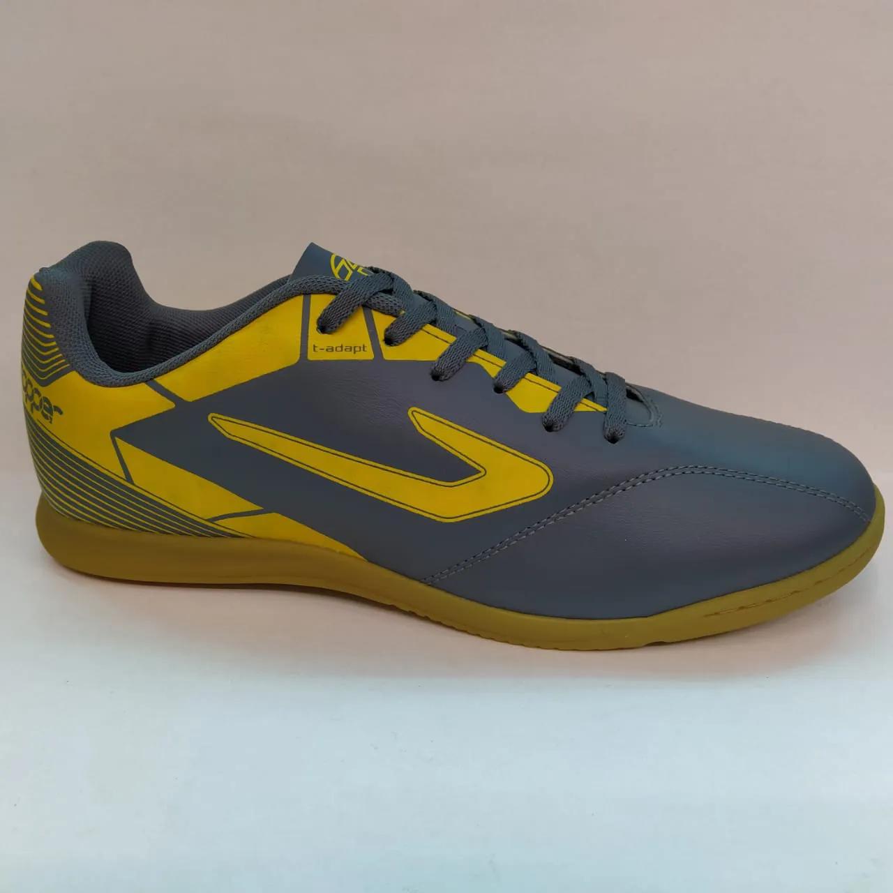 Chuteira Indoor Futsal Topper Cup II -  Chumbo / Amarelo