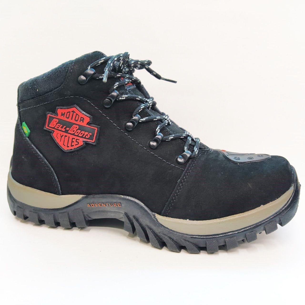 Coturno Masculino Bell Boots 2027 - Preto / Vermelho