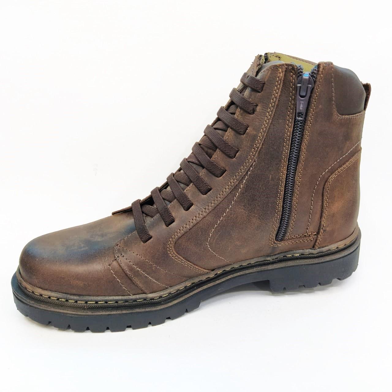 Coturno Masculino em Couro Mega Boot's 6015-01 - Café
