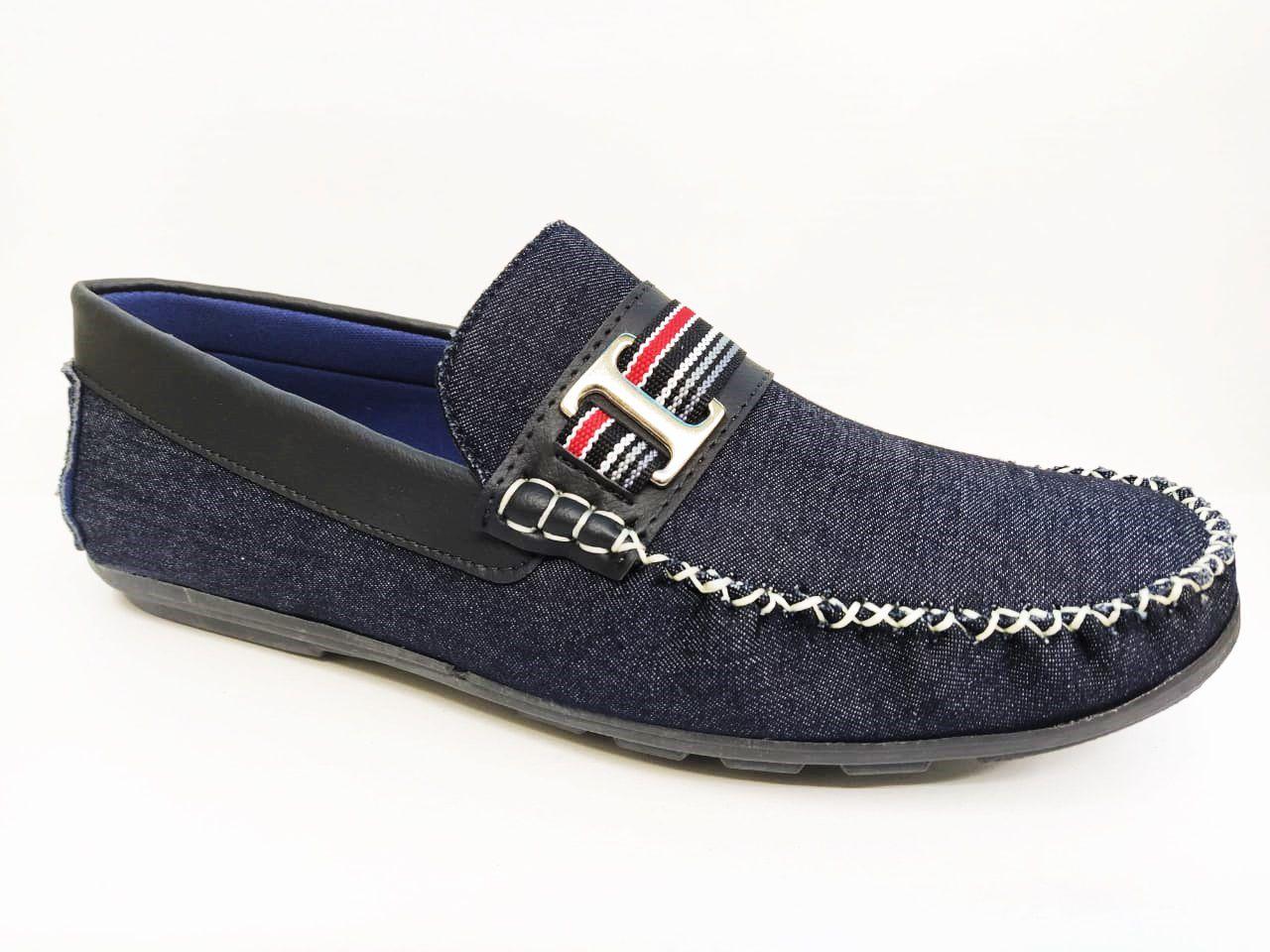 DockSide Masculino MOCFLEX 535 - Jeans / Preto