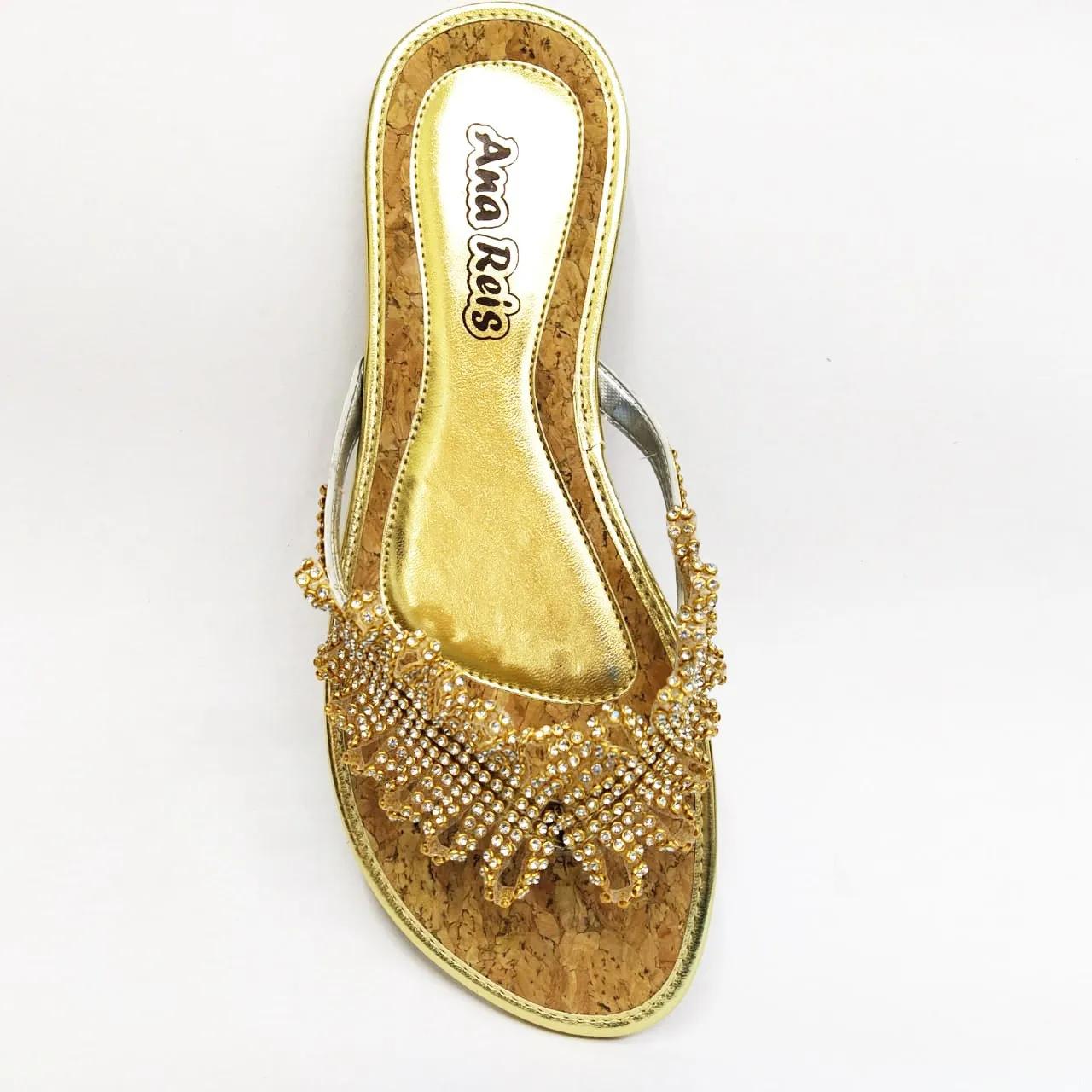 Rasteira feminina Ana Reis 511 - Dourado