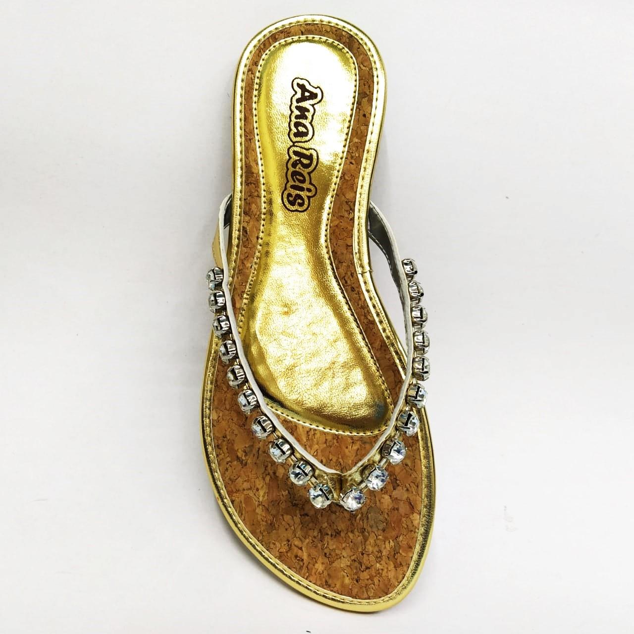 Rasteira feminina Ana Reis 618 - Dourado