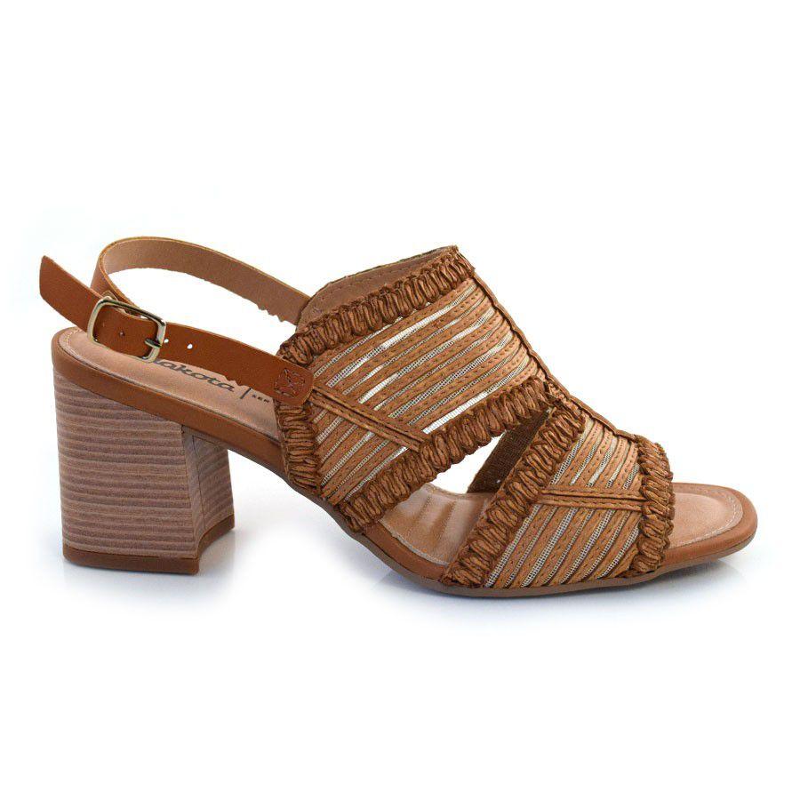 Sandalia Feminina Dakota Z5142 - Caramelo