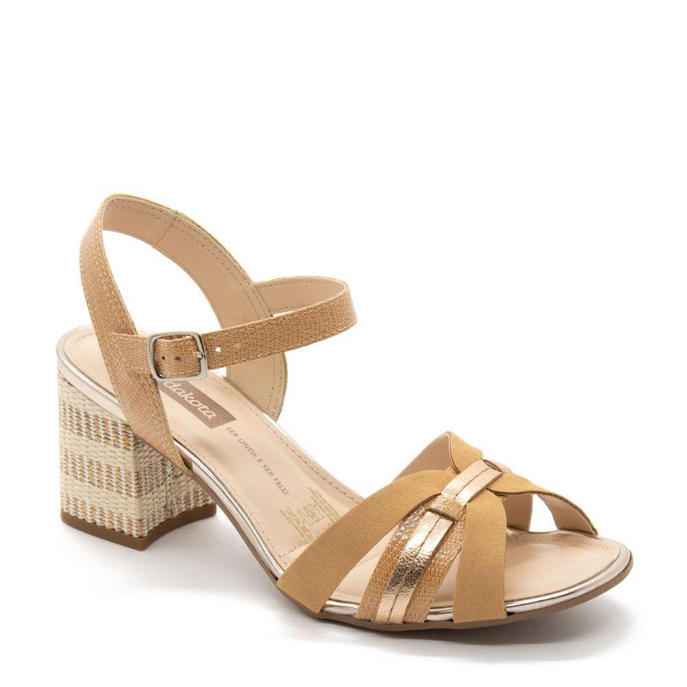 Sandália feminina Dakota Z4064 - Bege