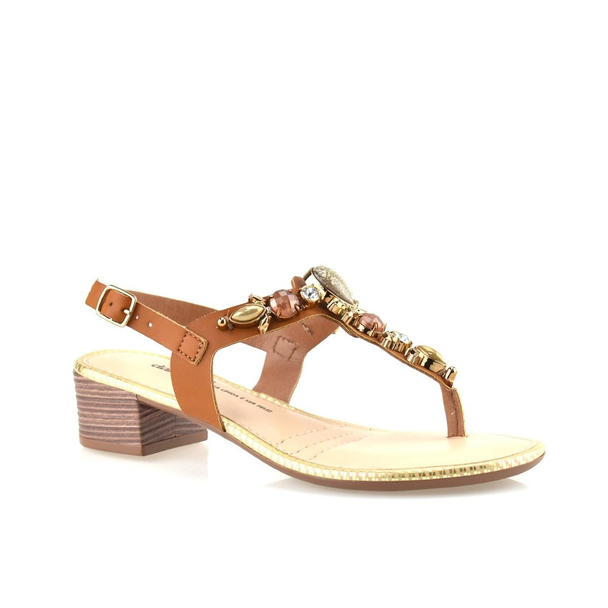 Sandália feminina Dakota Z4072 - Mascavo