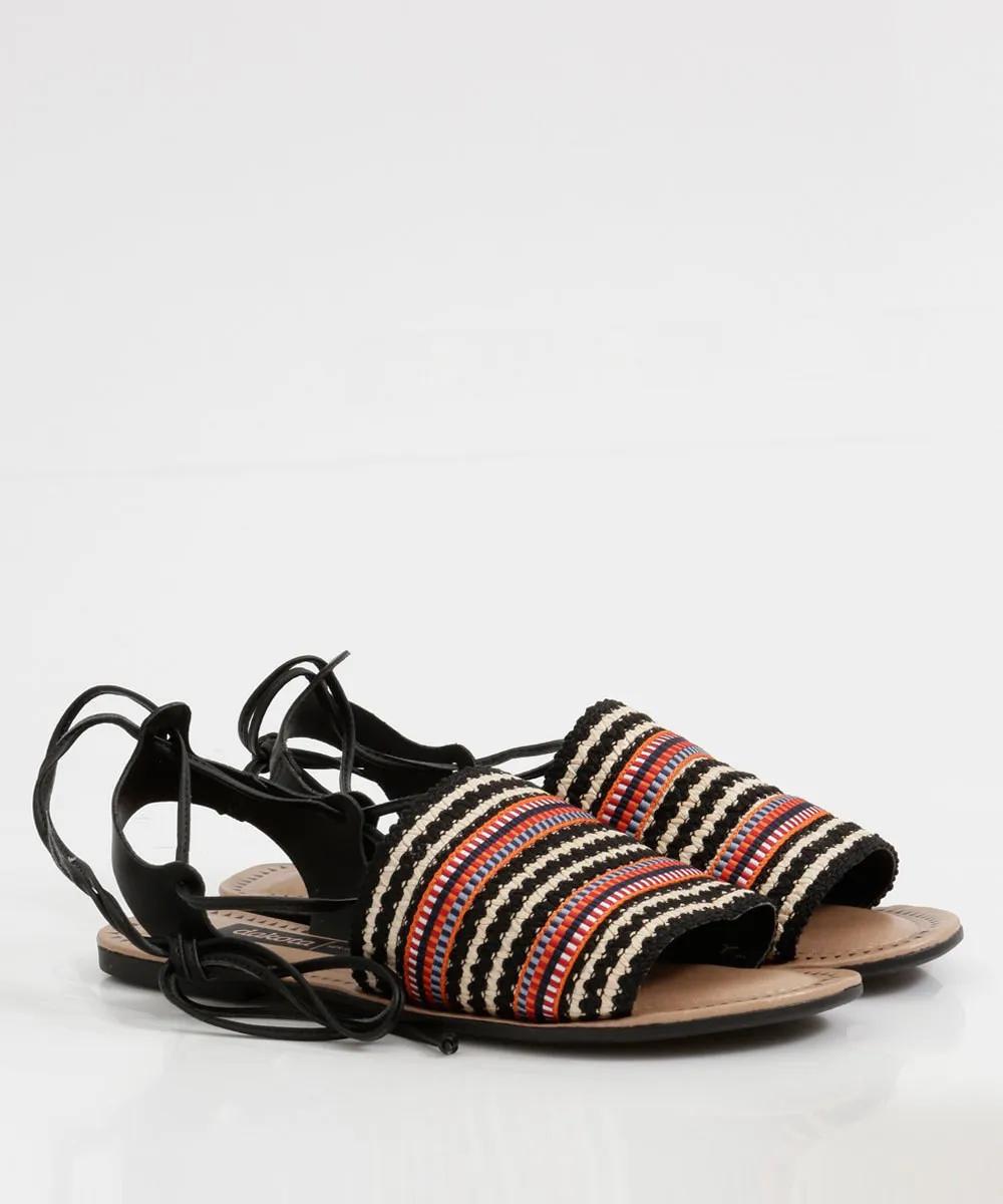 Sandália feminina Dakota Z5313 - Preto / Bege