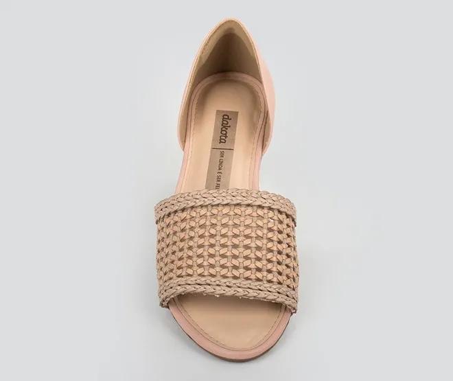 Sandália feminina Dakota Z5471 - Nude