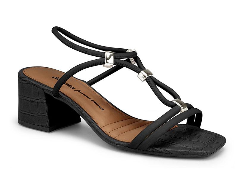 Sandalia Feminina Dakota Z8103 - Preto