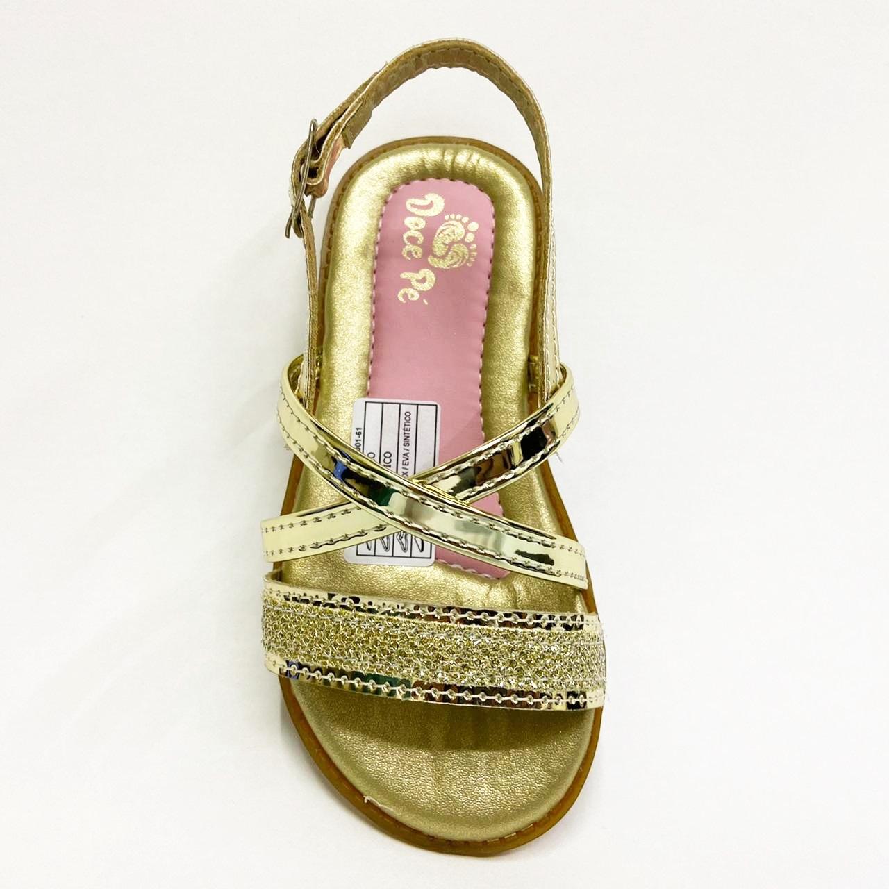 Sandalia Infantil Feminina Doce Pé 5007-257 - Dourado