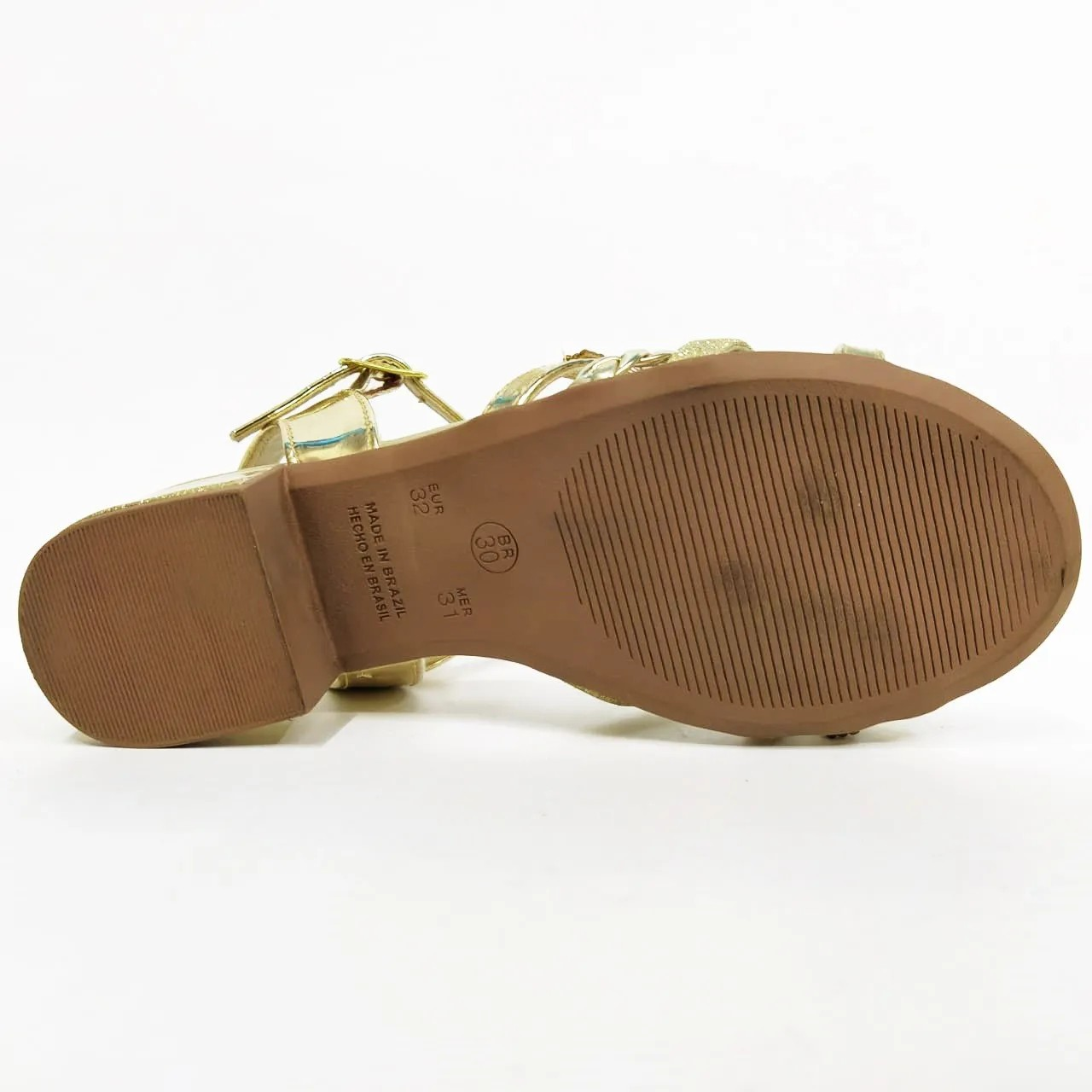 Sandália infantil feminina Klassipe 172.182.466 - Dourado