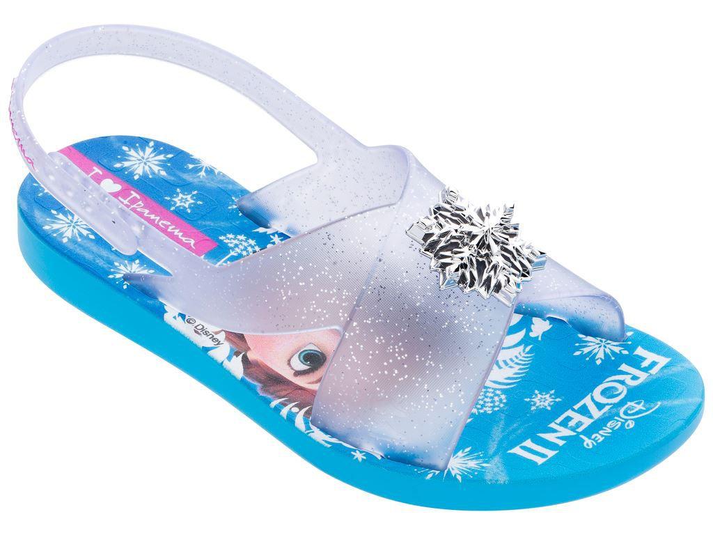 Sandalia Infantil Frozen 26504 - Azul/Vidro