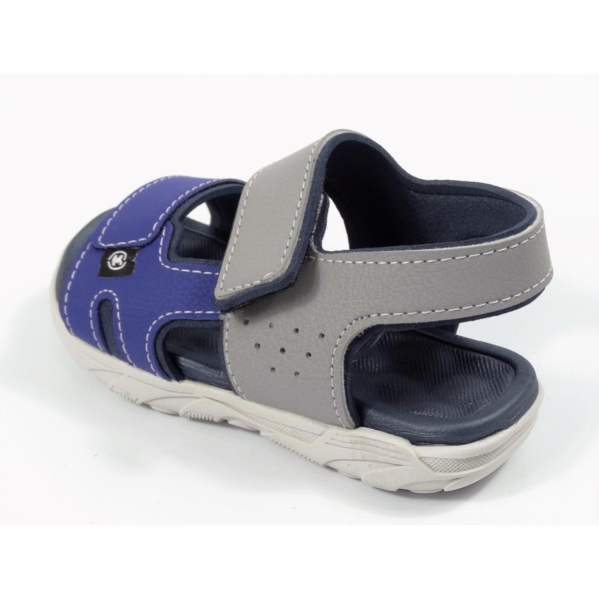 Sandalia Infantil Masculina Molekinho 2135.137 - Cinza/Azul