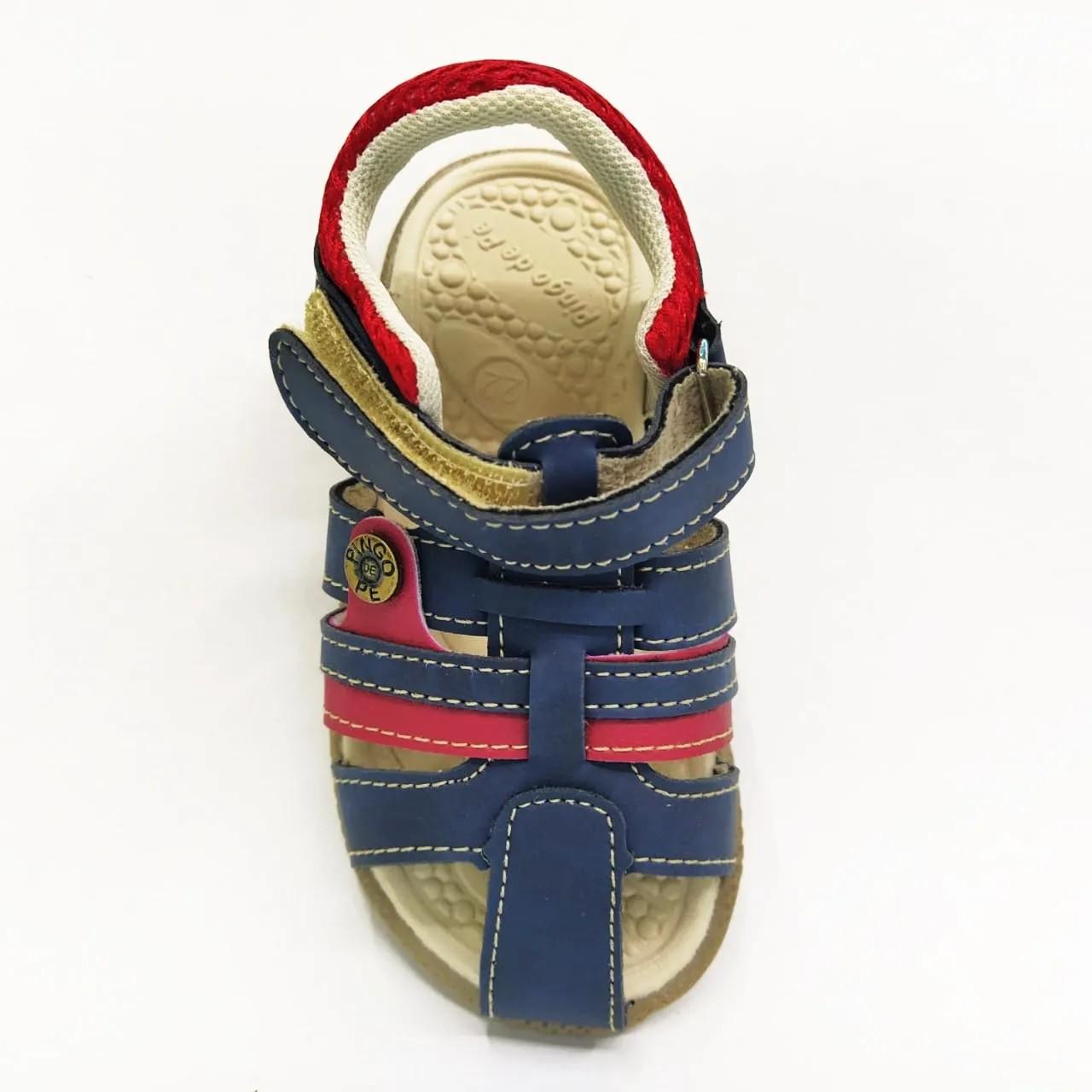 Sandália infantil Pingo de Pé 1384-087 - Mar / Vermelho