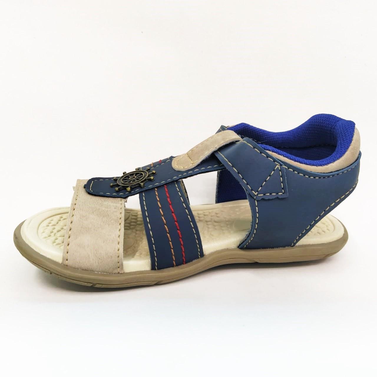 Sandália infantil Pingo de Pé 1393-625 - Mar / Bege