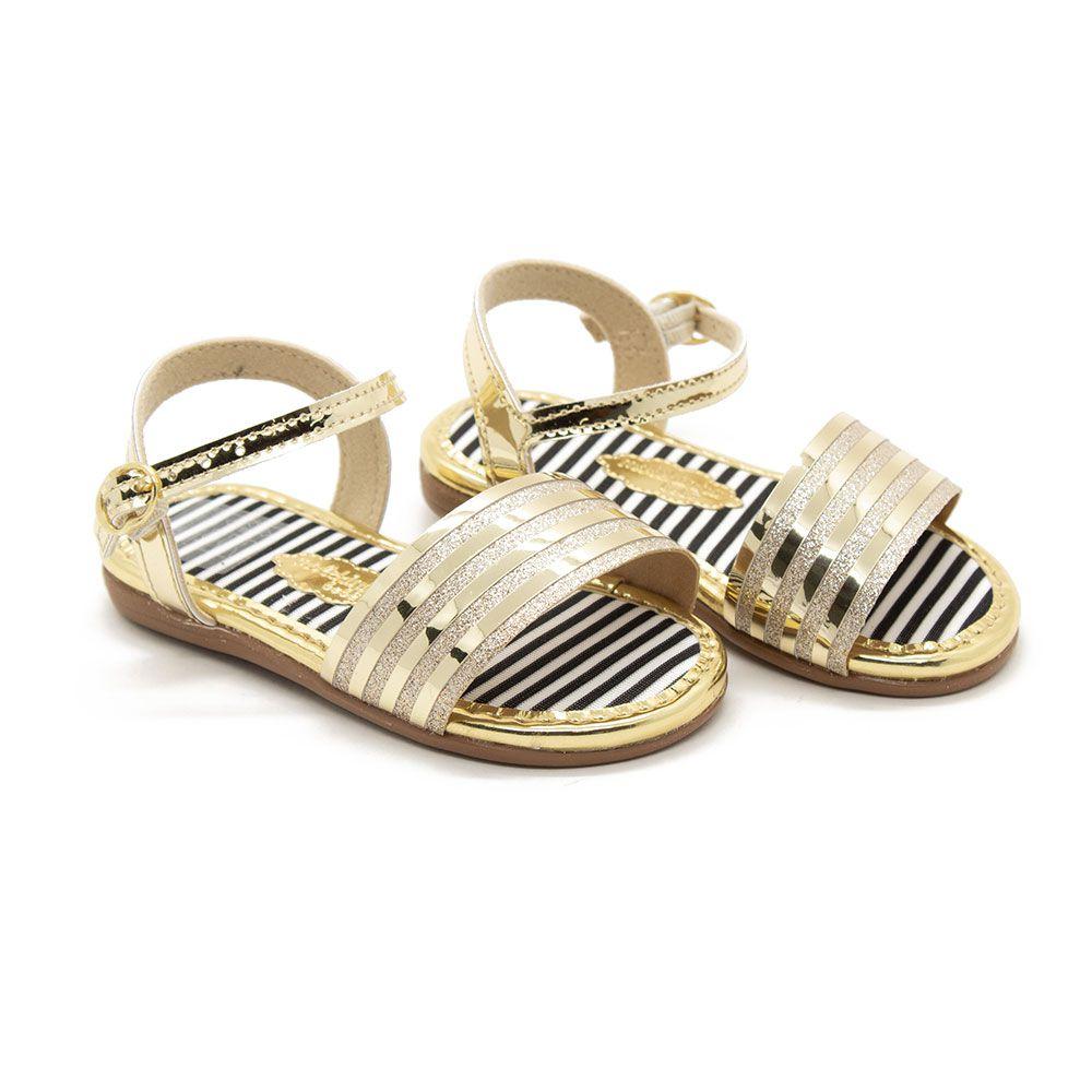 Sandalia Molekinha 2112.347 - Dourado