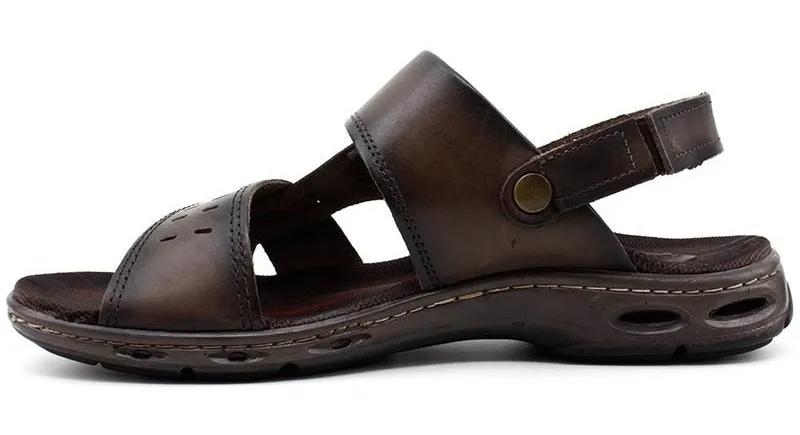 Sandalia Papete Masculina em couro Pegada 130653-03 - Cravo