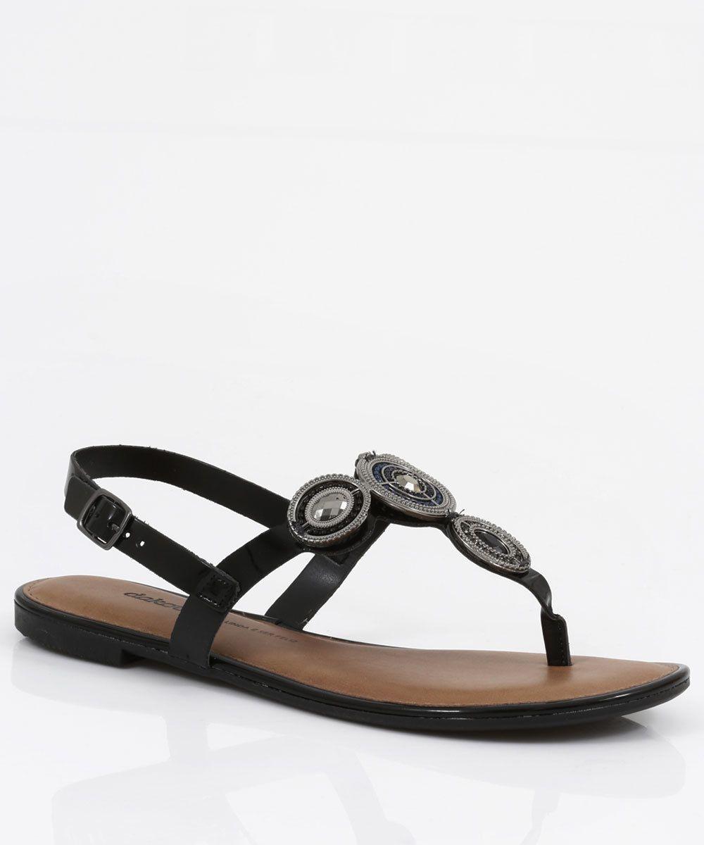 Sandalia Rasteira Dakota Z5252 - Preto