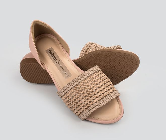 Sandalia Rasteira Dakota Z5471 - Nude