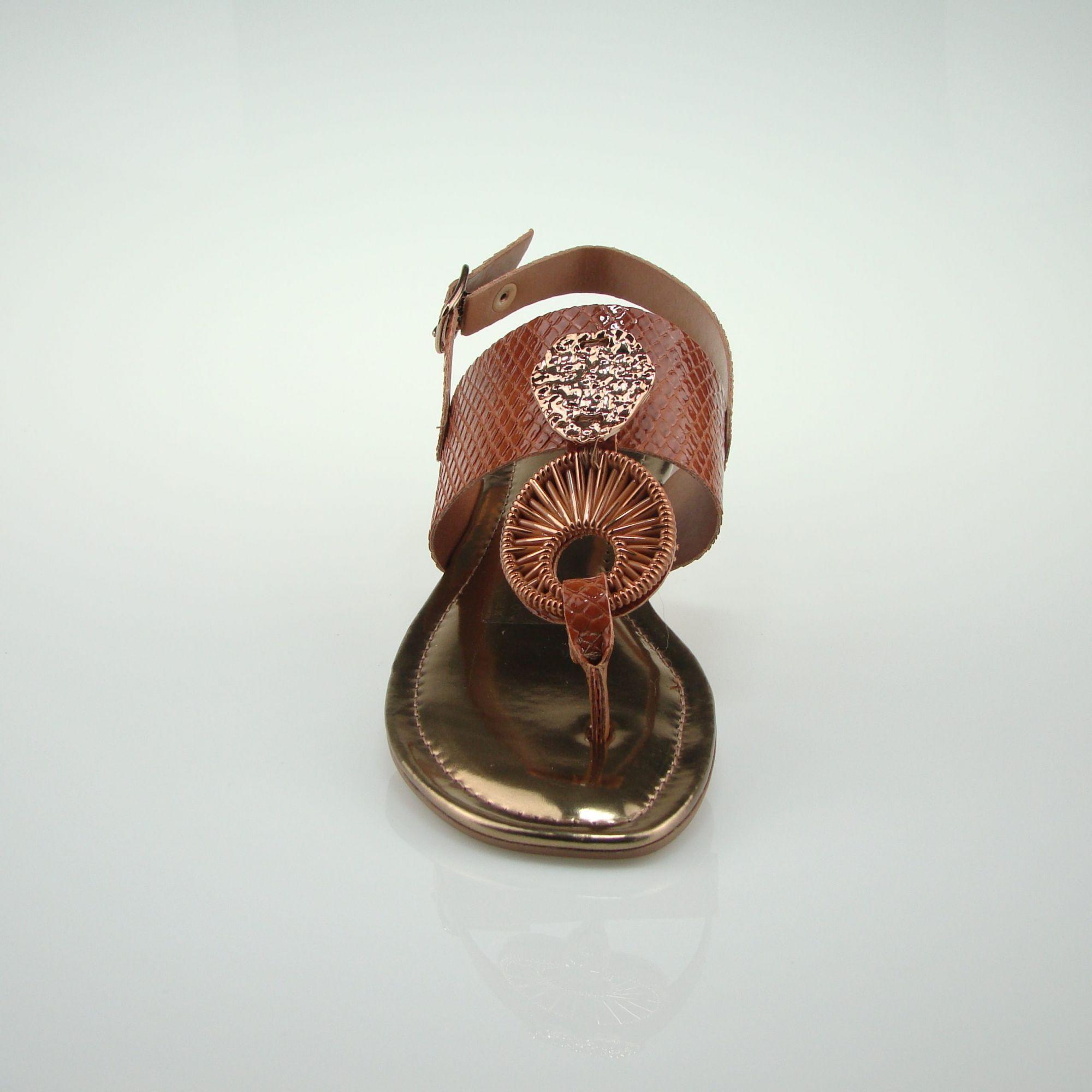Sandalia Rasteira Dakota Z6321 - Mascavo