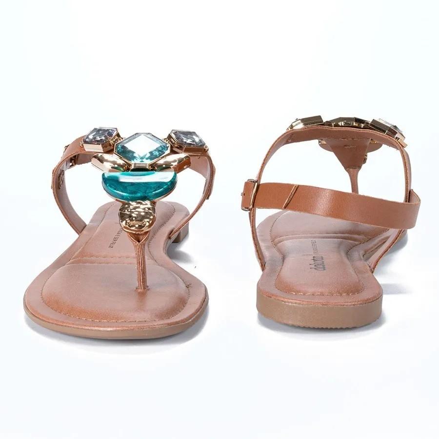 Sandalia Rasteira Dakota Z7222 - Mascavo