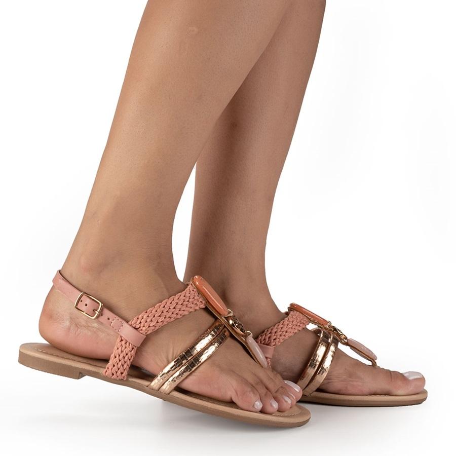 Sandalia Rasteira Dakota Z8193 - Nude