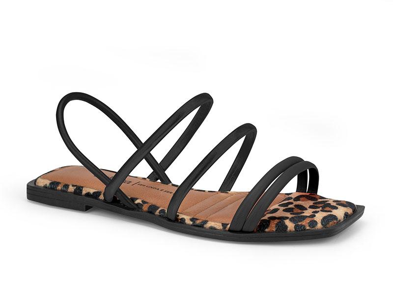 Sandalia Rasteira Dakota Z8361 - Preto
